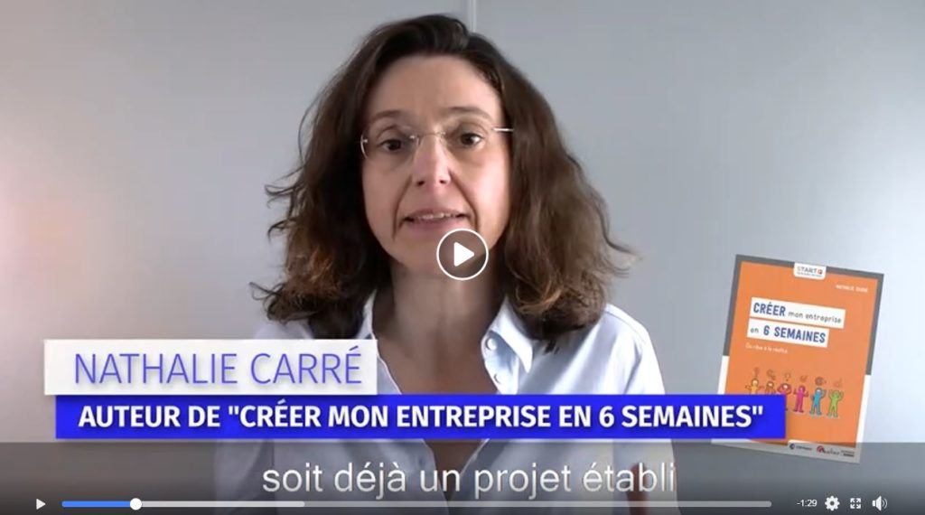 Interview Nathalie Carré - auteur créer mon entreprises en 6 semaines